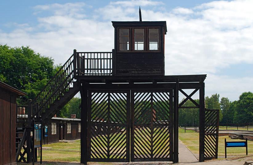 Tháp canh tại trại tập trung Stutthof (tín dụng: Wikimedia Commons)