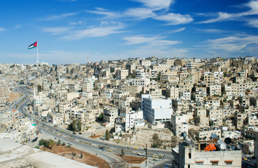 A view of Amman, Jordan from the Citadel atop Jabal al-Qal'a (photo credit: Wikimedia Commons)