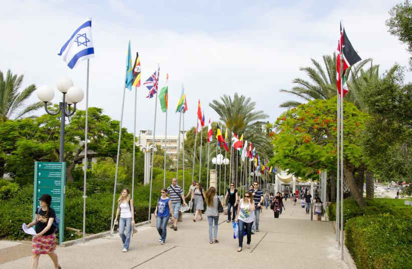 Picture: Tel Aviv University students on campus. (photo credit: TEL AVIV UNIVERSITY)