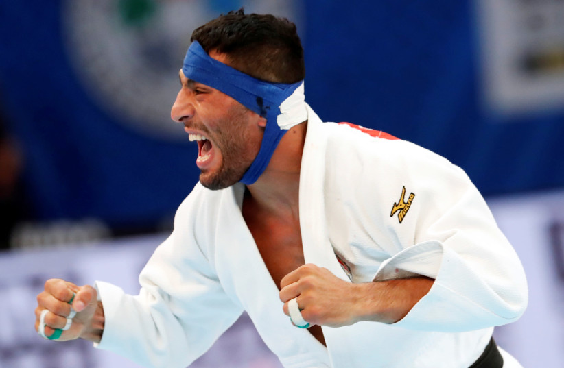 Judo - World Judo Championships - Men's Under 81 kg - Nippon Budokan, Tokyo, Japan - August 28, 2019 - Iran's Saeid Mollaei reacts (photo credit: REUTERS)