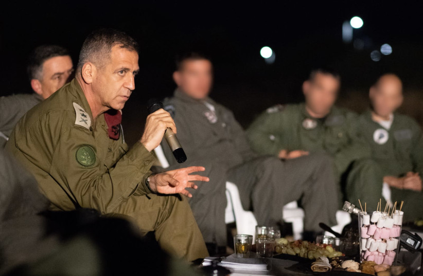 IDF Chief of Staff Lt.-Gen. Aviv Kochavi in a meeting with IAF commanders (photo credit: IDF SPOKESPERSON'S UNIT)