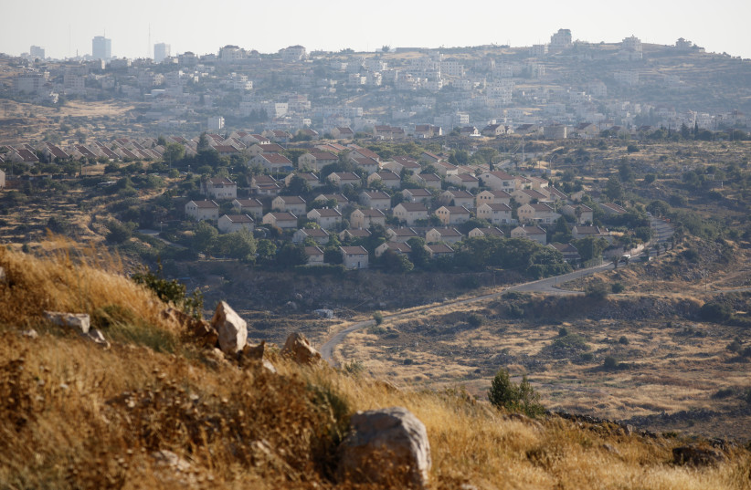 A general view of the Israeli settlement of Ofra in the West Bank, June 19, 2019. (photo credit: REUTERS/AMIR COHEN)