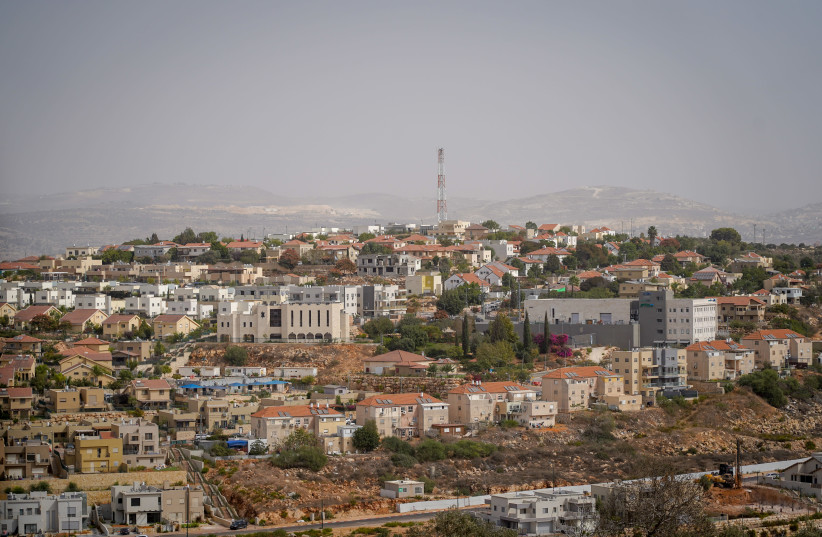 Revava - An Orthodox Jewish Israeli settlement in the West Bank, Located between Barkan and Karnei Shomron. Revava, Oct 23, 2018 (photo credit: HILLEL MAEIR/TPS)