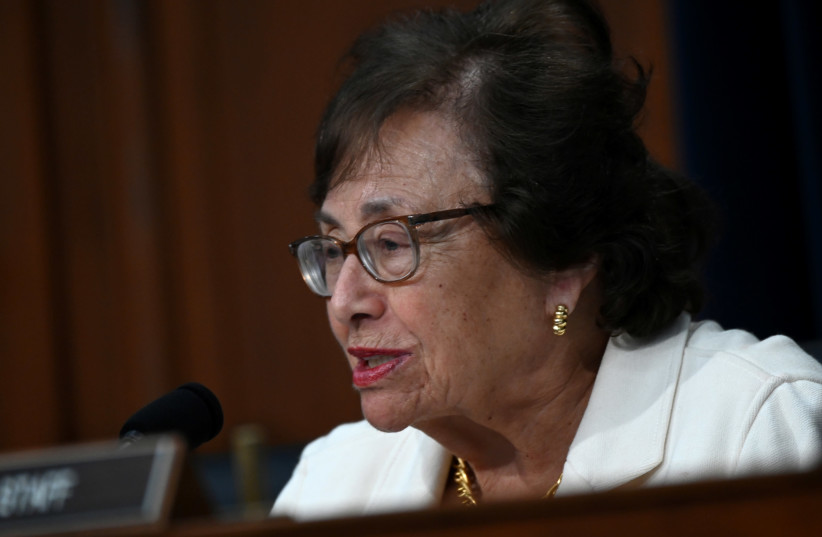 Chairwoman Nita Lowey (D-NY) speaks during testimony by U.S. Secretary of State Mike Pompeo at a hearing on the State Department's budget request for 2020 in Washington, U.S. (photo credit: ERIN SCOTT/REUTERS)