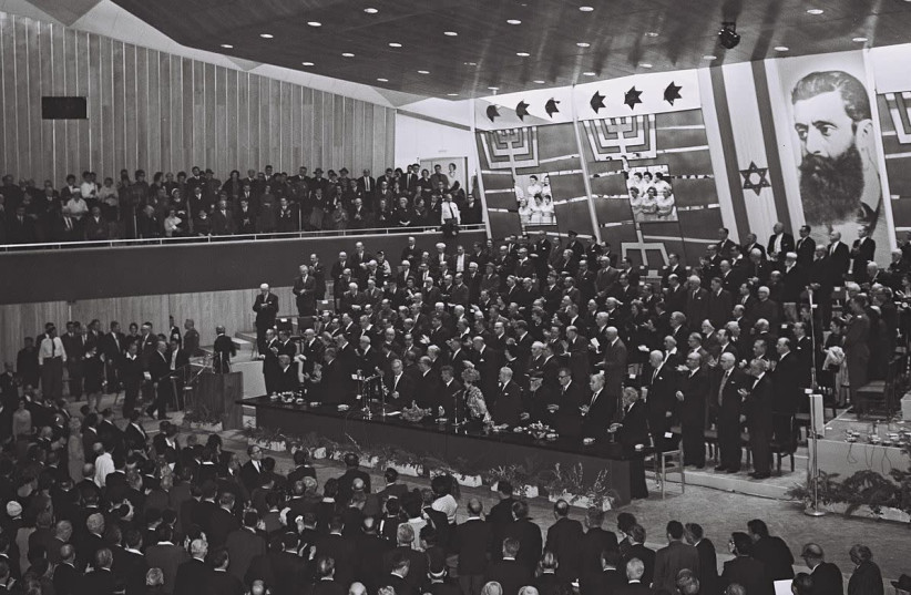 The Opening of the 26th World Zionist Congress in Jerusalem in 1964.  (photo credit: MOSHE PRIDAN / GPO)
