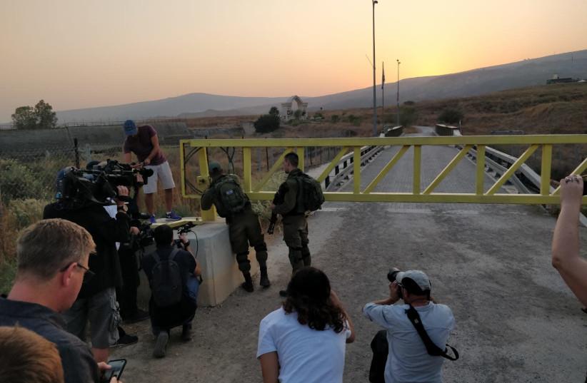 Naharayim gate closing (photo credit: TOVAH LAZAROFF)