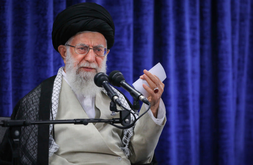 Iranian Supreme Leader Ayatollah Ali Khamenei, May 14, 2019 (photo credit: KHAMENEI.IR)