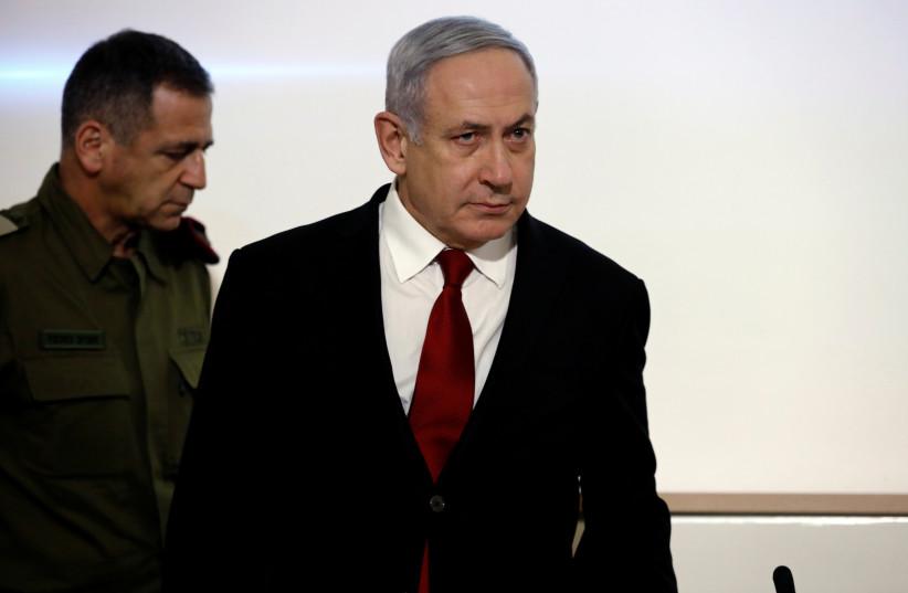 Benjamin Netanyahu and IDF Chief of Staff Aviv Kochavi in Tel Aviv on Tuesday (photo credit: REUTERS)