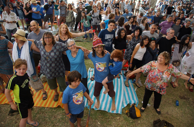 Celebrants at the Jacob's Ladder music festival.  (photo credit: Courtesy)