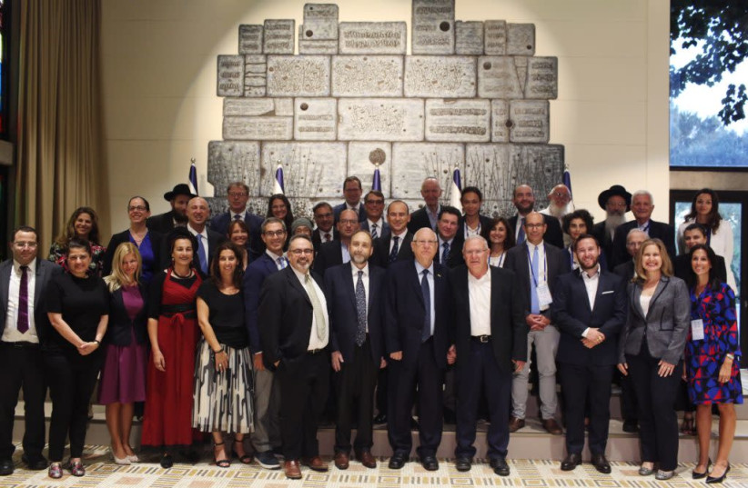 The Our Common Destiny Scholars with President Reuven Rivlin.  (photo credit: Courtesy)