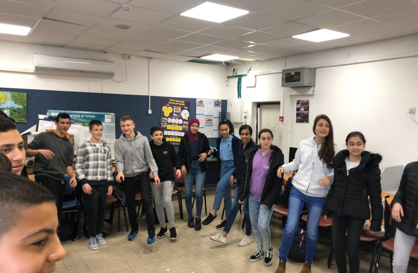 Students from middle schools in Nazareth and Nof Hagalil study together and create joint projects (photo credit: Courtesy)
