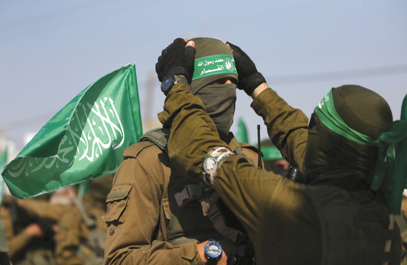 HAMAS MEMBERS in Gaza. (photo credit: REUTERS)