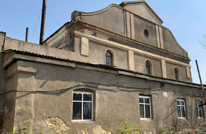 The Great Synagogue in Illintsi, Ukraine, was burned to the ground. (photo credit: WIKIMEDIA)