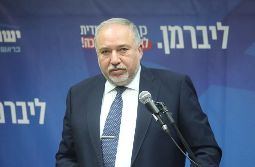 Yisrael Beytenu leader Avigdor Liberman on November 20, 2019. (photo credit: MARC ISRAEL SELLEM/THE JERUSALEM POST)