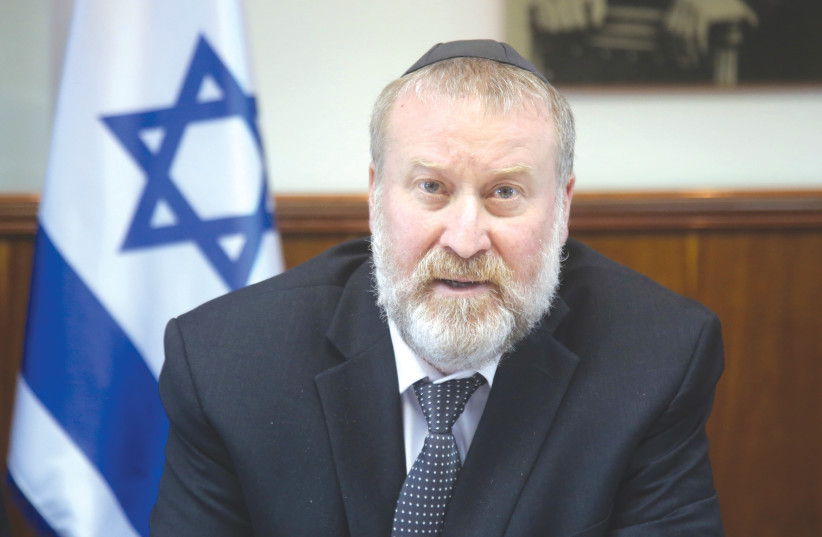 ATTORNEY-GENERAL Avichai Mandelblit has been one of the main players, along with Prime Minister Benjamin Netanyahu, Blue and White leader Benny Gantz and Yisrael Beytenu leader Avigdor Liberman, in the current political stalemate. (photo credit: MARC ISRAEL SELLEM/THE JERUSALEM POST)