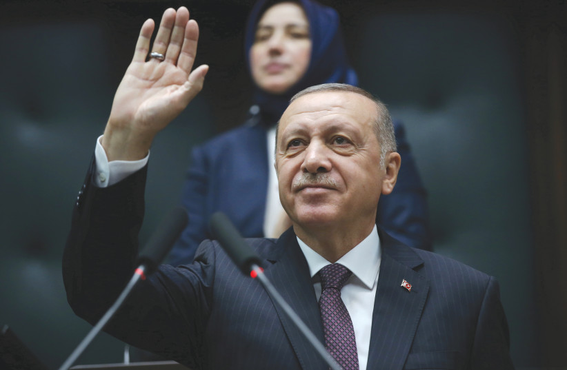 TURKISH PRESIDENT Recep Tayyip Erdogan.  (photo credit: REUTERS)