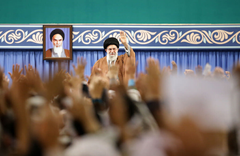 Basij forces meet with Iran's Supreme Leader Ali Khamenei, Nov. 27, 2019 (photo credit: KHAMENEI.IR)