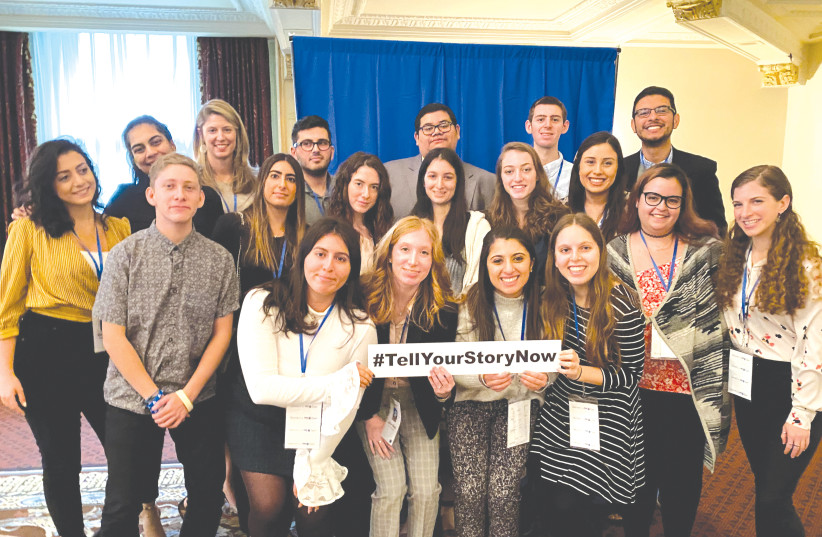 Students gather at Sunday's conference in Pittsburgh (photo credit: JEFF BISKOWITZ)