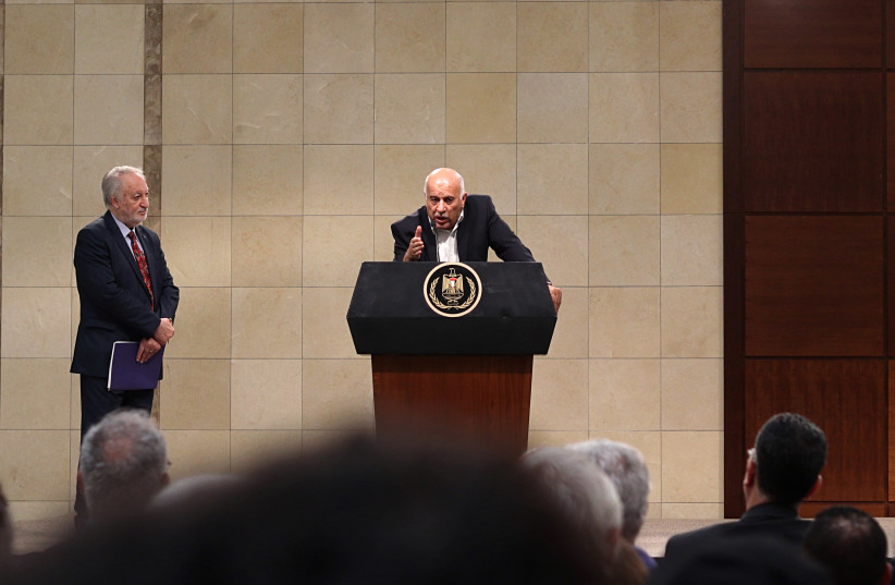 Senior Fatah leader Jibril Rajoub (photo credit: LEON SVERDLOV)
