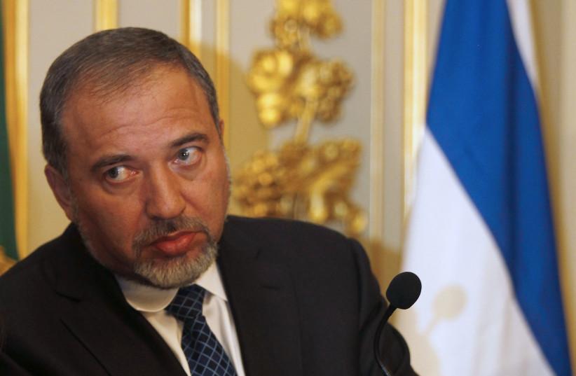 Israel's Foreign Affairs Minister Avigdor Liberman, 2011 (photo credit: JOSE MANUEL RIBEIRO/REUTERS)