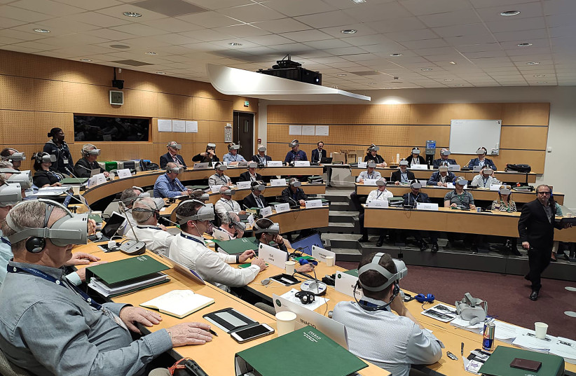A pilot VR classroom at INSEAD's Fontainebleau campus (photo credit: INSEADׁ)