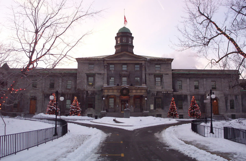 The arts building of McGill University in Montreal, Québec (photo credit: COLOCHO/WIKIMEDIA COMMONS)