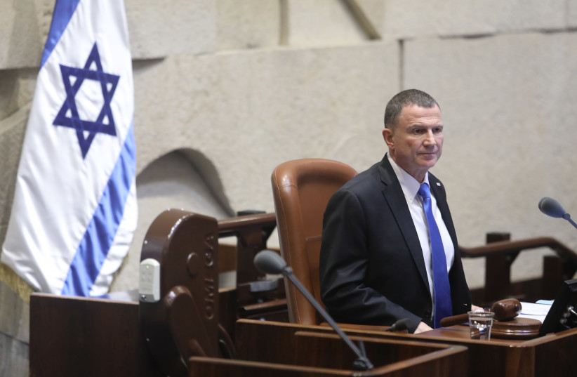 Knesset Speaker Yuli Edelstein on the night the 22nd Knesset voted to disperse (photo credit: MARC ISRAEL SELLEM/THE JERUSALEM POST)