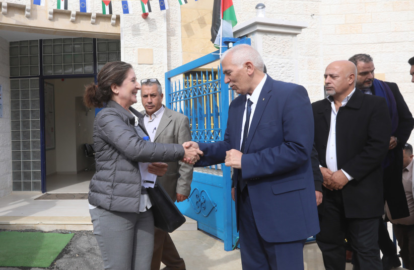 The EU, Denmark and the Palestinian Authority inaugurate multipurpose buildings in Area C villages near Bethlehem (photo credit: THE OFFICE OF THE EUROPEAN UNION REPRESENTATIVE)