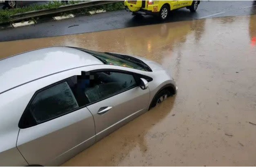 Flooding in Haifa  (photo credit: MAGEN DAVID ADOM)