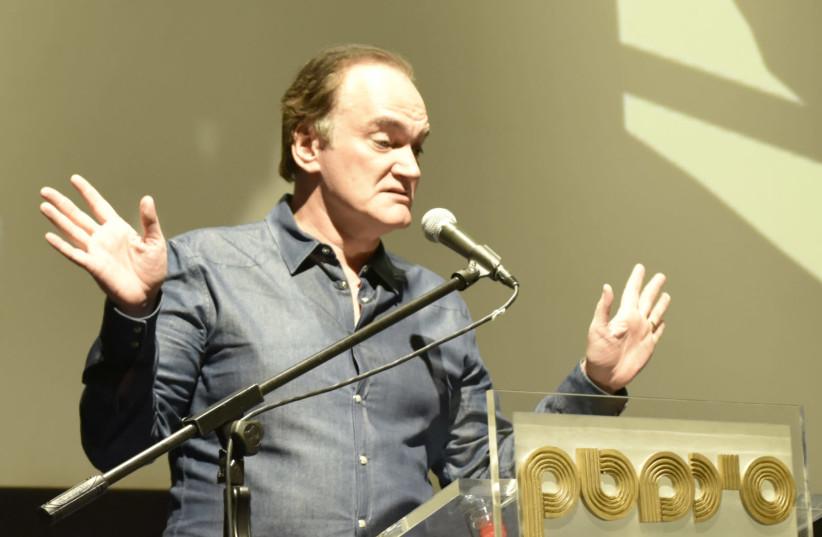 Quentin Tarantino at the Jerusalem Cinemateque on December 14, 2019. (photo credit: SHAUL WEINSTEIN)