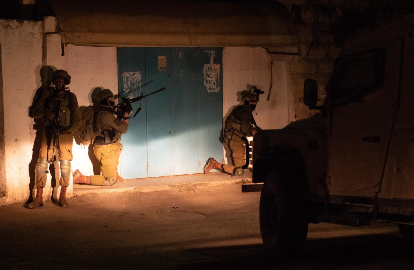 Israeli security forces arrest  PFLP terror cell members in the Ramallah area (photo credit: IDF SPOKESPERSON'S UNIT)