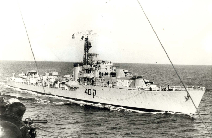 THE DESTROYER 'Eilat,' first victim of the naval missile age. (photo credit: GPO)