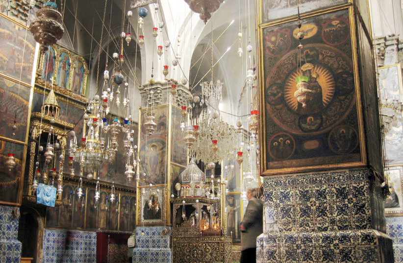 INSIDE THE Cathedral of St. James, a 12th-century Armenian church in Jerusalem's Armenian Quarter. (photo credit: Wikimedia Commons)