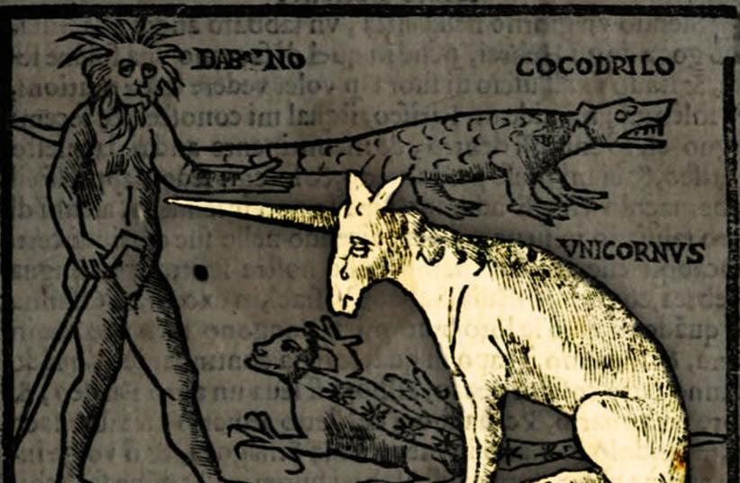 An image from Noe Bianco's book, Viaggio da Venetia al Santo Sepolcro, et al monte Sina, 16th century (photo credit: NATIONAL LIBRARY OF ISRAEL)