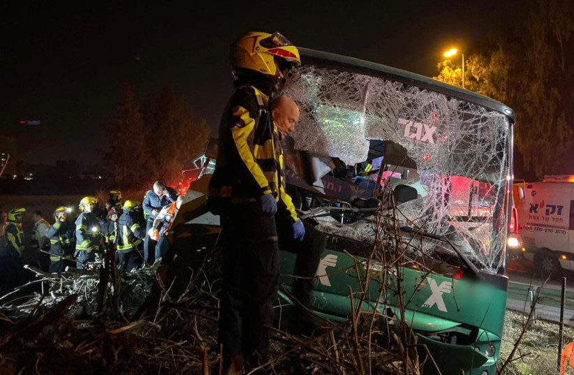 4 dead, 20 injured after bus accident near Ben-Gurion Airport