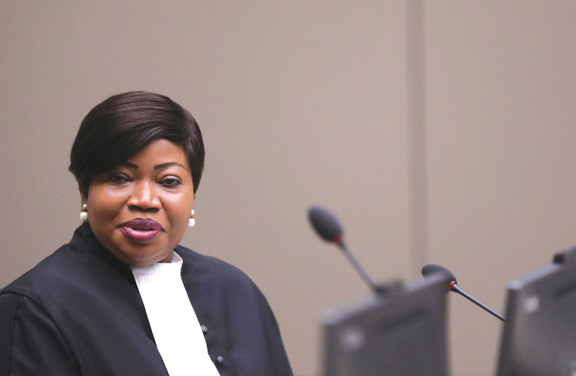ICC CHIEF PROSECUTOR Fatou Bensouda in The Hague earlier this year (photo credit: EVA PLEVIER/REUTERS)