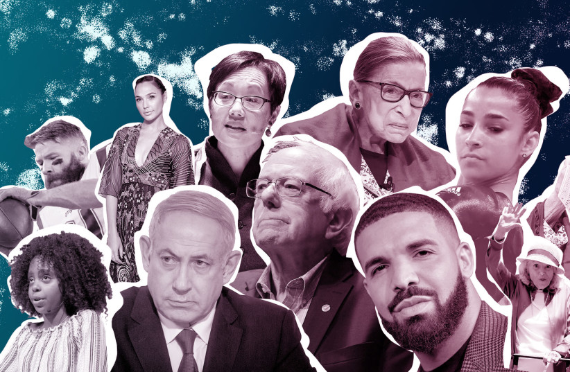 Dozens of Jewish figures had enormous impacts on the 2010s (photo credit: GETTY IMAGES/PHOTO ILLUSTRATION BY GRACE YAGEL VIA JTA)