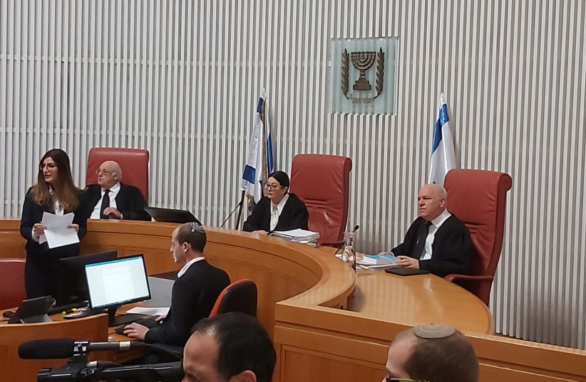 Israeli High Court hearing on whether Netanyahu can form next government despite indictment he faces. (December 31, 2019) (photo credit: YONAH JEREMY BOB)