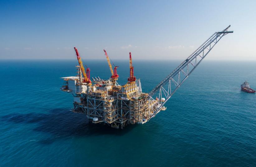 The Leviathan gas platform, 10km. offshore Israel (photo credit: ALBATROSS)
