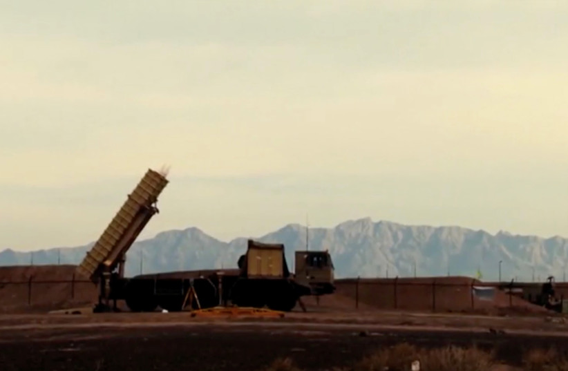 A still image from video footage shows Bavar-373 mobile missile system in Iran (photo credit: REUTERS)