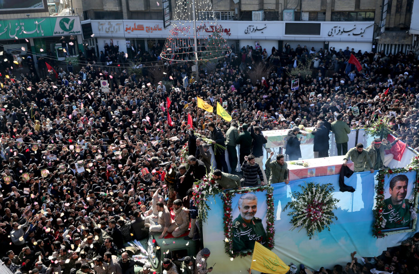 Image result for pictures of general soleimani funeral
