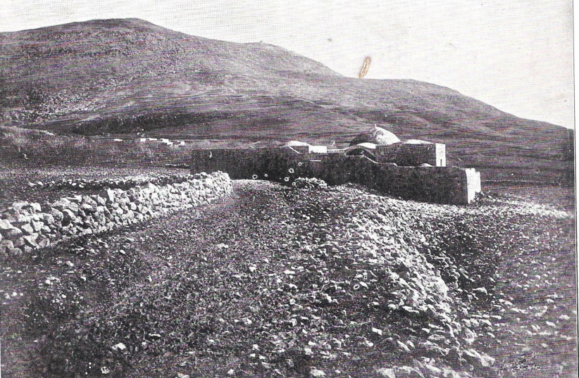 Joseph's coffin was indeed buried in the land of Israel: Joseph's Tomb, before 1899 (photo credit: Wikimedia Commons)