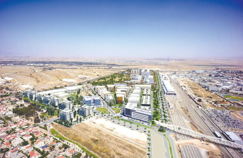An aerial view of Beersheba's Gav-Yam Negev Advanced Technologies Park.  (photo credit: GAV-YAM NEGEV ADVANCED TECHNOLOGIES PARK)