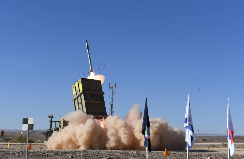 Iron Dome missile test (photo credit: DEFENSE MINISTRY)
