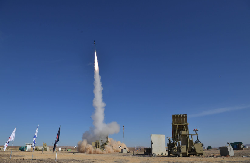 Iron Dome system interception test (photo credit: DEFENSE MINISTRY)