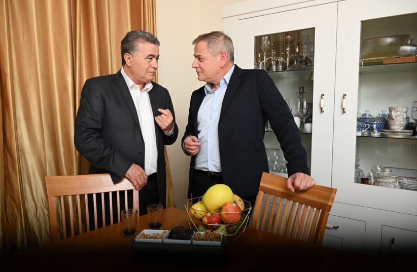 Labor-Gesher head Amir Peretz and Meretz leader Nitzan Horowitz (photo credit: Courtesy)