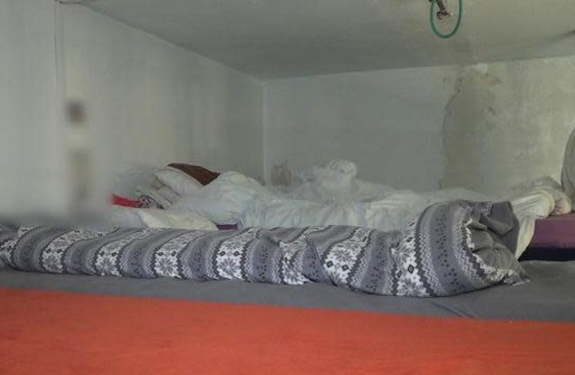 A instalação onde 50 mulheres escravizadas teriam sido mantidas em Jerusalém (crédito da foto: UNIDADE POLICIAL)