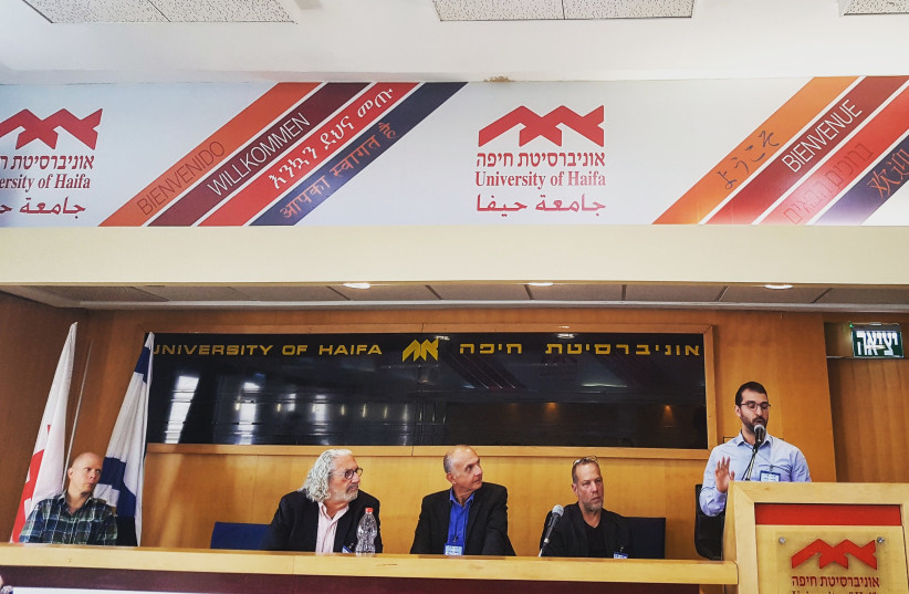 A panel discussion on Brazil, Israel and USA International Relations during a conference at Haifa University. (photo credit: ILANIT CHERNICK)