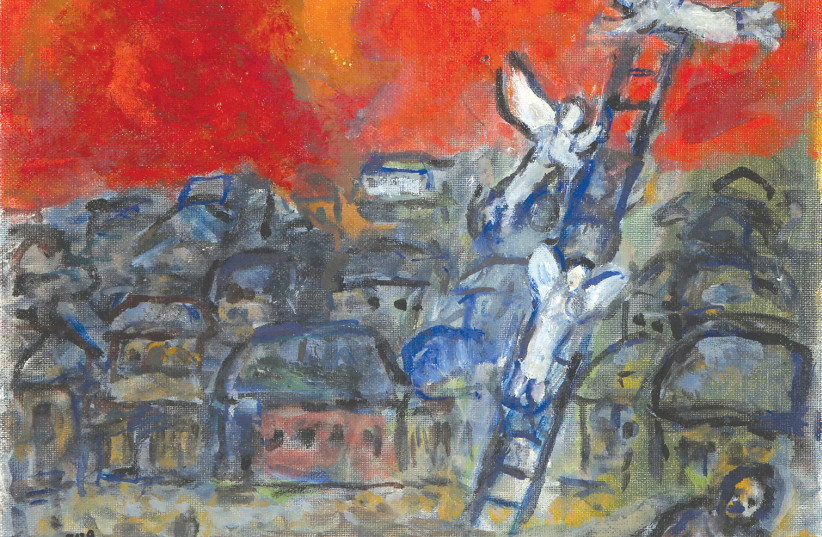 'Jacob's Ladder' by Marc Chagall  (photo credit: Courtesy)