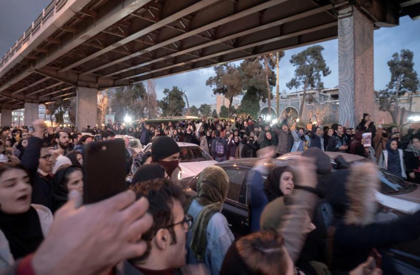 Iran protests  (photo credit: REUTERS)